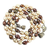 Vintage Kirk's Folly Genuine Pearl Necklace