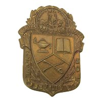 Rare Brass Badge - Military Frederick Academy Virginia