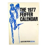 1977 Jules FEIFFER CALENDAR of Cartoons w/ Provenance