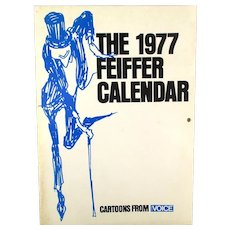 1977 Jules FEIFFER CALENDAR of Cartoons w/ Provenance