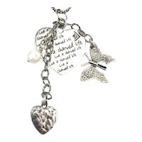 Vintage SILPADA Sterling Silver Charms Necklace