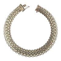 Sterling Silver Slinky Snaky Mesh Bracelet