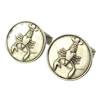 Vintage Sterling Silver LOBSTER Cufflinks European