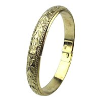Whiting & Davis Ornate Hinge Bracelet a la Victoriana