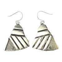 Laguna Pueblo Handmade Sterling Silver Earrings HA-TA-WEH