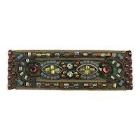 Vintage Ayala Bar Mosaic Jewel Pin Brooch