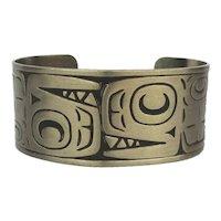 Silvertone Cuff Bracelet by Daniel Yunkws for Bell Trading Post