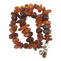 Genuine Amber Bead Necklace Mixed Colors