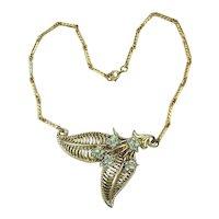 Corocraft Adolph Katz Design Rhinestone Necklace Coro Craft