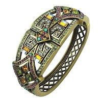 Vintage Heidi Daus Swarovski Crystal Bracelet MIB