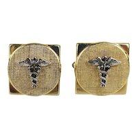 SWANK Medical Caduceus Cufflinks