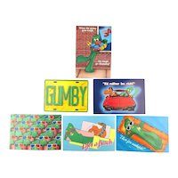 1986 Set of 6 GUMBY POKEY Postcards