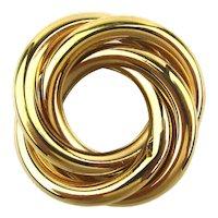 Vintage NAPIER Goldtone Triple Circles Pin Brooch