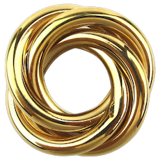 Vintage NAPIER Goldtone Triple Circles Pin Brooch