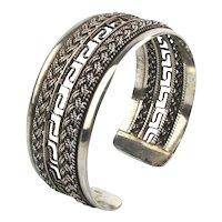 Sterling Silver Double Braid Cuff Bracelet