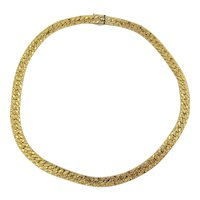 Textured KREMENTZ Heavy Gold-Plated Necklace