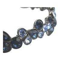 Givenchy Two Blue Rhinestone Bracelet