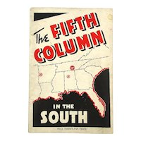 Original 1940 PB Book - The FIFTH COLUMN in the South - First Edition