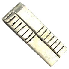 Vintage Taxco Sterling Silver Money Clip