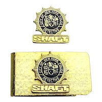Rare SHAFT 2000 Movie Promo Money Clip - Detective Badge
