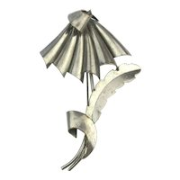 Art Deco KARU Fifth Avenue Umbrella Flower Pin Brooch