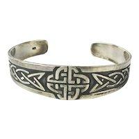 Fine Handcrafted Sterling Silver CELTIC Design Cuff Bracelet