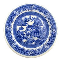 SOLD TO T.W. - SPODE England Blue Willow Mini Plate Jewelry Pin Brooch Paul Cardew
