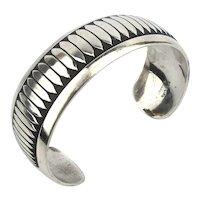 Vintage Navajo B. WEBB Sterling Silver Cuff Bracelet