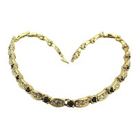 Gorgeous Swarovski Crystal Gold-Plate Necklace