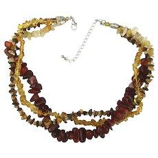 Vintage Necklace - Multi Strands Multi Stones Multi Good Looking