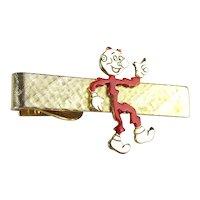 Vintage REDDY KILOWATT Figural Tie Clasp Electricity Adv. Symbol Clip