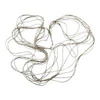 Native American Ten Strand Liquid Sterling Silver Necklace