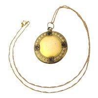 Victorian Gold-Filled Photo Locket Pendant Necklace W&H Co.