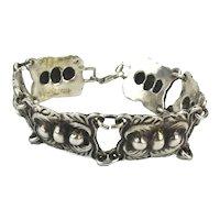Great Handwrought Sterling Silver Link Bracelet