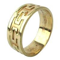 Modernist 10K Gold Band Ring - Unisex - 11.5
