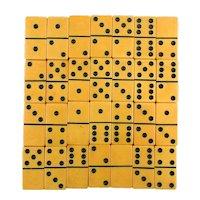 Bakelite Catalin Domino Set 28 Jumbo Tiles in Orig. Box Dominoes