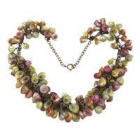 Circa 1940 Multi Color Mini Sea Shell Seashells Necklace a la H and H