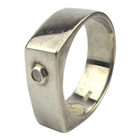 Vintage Signed C^A 925 Sterling Silver Ring Size 12