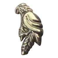 Thick Taxco Modernist 925 Mexican Parrot Pin Pendant Sterling Silver