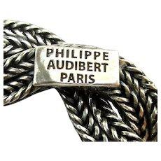 Philippe Audibert Paris Silverplate Lasso Rope Necklace