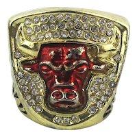Vintage 1993 Chicago Bulls JORDAN Souvenir Ring - 49 Gr.