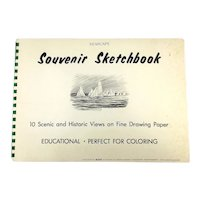 SEASCAPE Souvenir Sketchbook 10 Scenic and Historic Views on Fine Drawing Paper Paperback 1970