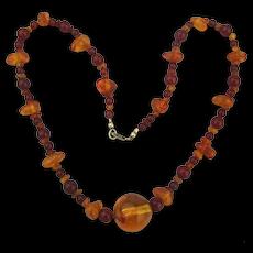 Multi Shades Genuine Amber Bead Necklace