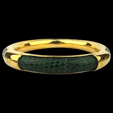Vintage GUCCI Genuine Snakeskin Bangle Bracelet