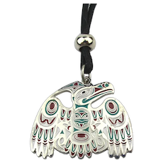 RAVEN Pendant Necklace by Artist Joe Wilson - Raven The Cultural Hero Canada