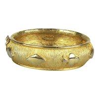 Vintage PAKULA Goldtone Hinge Bracelet Playing Cards Symbols