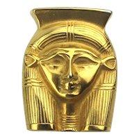 1976 Metropolitan Museum of Art Egyptian Goddess Hathor Pin Pendant