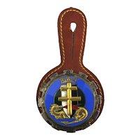 Vintage Drago French Enamel Military Badge Medal Pin