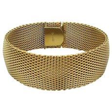 Vintage KREMENTZ Art Deco Era Goldtone Mesh Bracelet