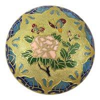 Vintage Chinese Enamel Gilded Treasure Trinket Box